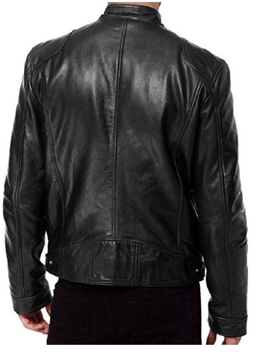 Custom Tailor Made Genuine lambskin Leather Jacket Biker Motorcycle Quilted
