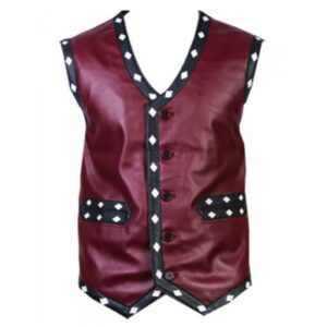 Warriors Vest Vintage Biker's Vest with Flamming Skull