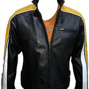 Hulk Hogan Black Biker Leather Jacket for Men